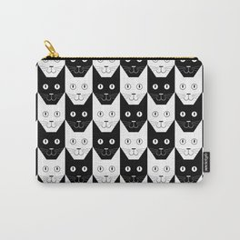 Black cat, white cat Carry-All Pouch