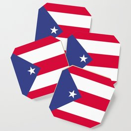 Puerto Rico flag emblem Coaster
