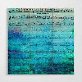 Blue mood music Wood Wall Art