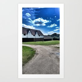 English Barn Landscape Art Print