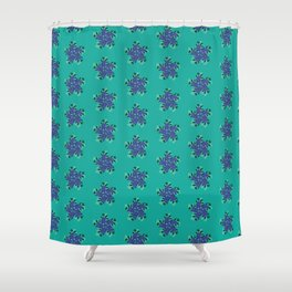Abstract Fern Pattern Shower Curtain
