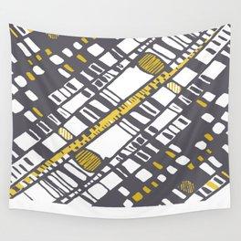 Diagonal layers yellow Wall Tapestry