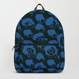 Pattern Breaker Tiles Collection: 5-18-01 Blue & Dark Green Color Backpack