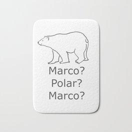 Marco Polar Bear White Sea Bear Marco Polo Bath Mat