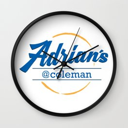 Adrian's Cafe at Coleman Wall Clock