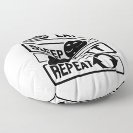 Eat Sleep Putt Repeat - Golf Ball Course Fairway Floor Pillow