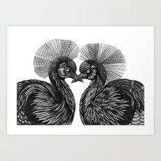 Cranes Art Print