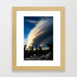 Sierra Wave From Below Framed Art Print
