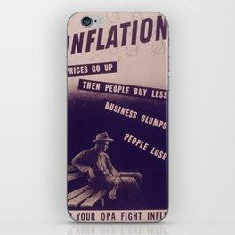 Vintage poster - Inflation iPhone Skin