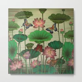 Lotus Painting Metal Print