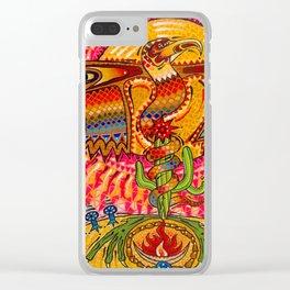 Rainbow Dragon Clear iPhone Case