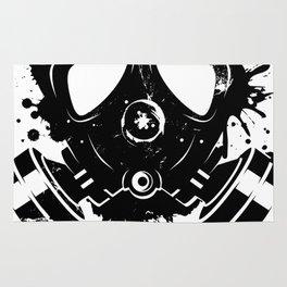 Gas mask graffiti Rug