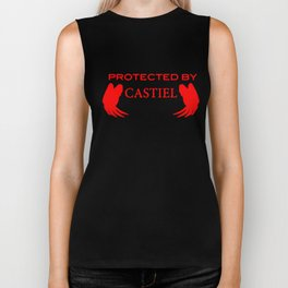 Protected By Castiel Ladies Supernatural Winchester Brothers Devil Bobby Supernatural T-Shirts Biker Tank
