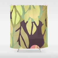 jungle Shower Curtains featuring Jungle by VessDSign