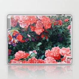 Psychedelic summer florals Laptop & iPad Skin