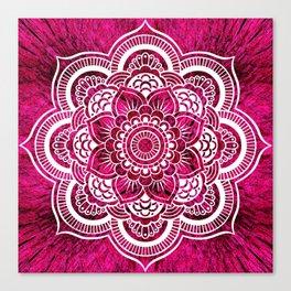 Mandala Hot Pink Colorburst Canvas Print