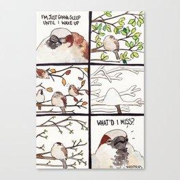 Bird no. 319: Nap to End All Naps Canvas Print