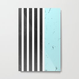 LIGHT BLUE STRIPES Metal Print