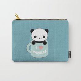 Kawaii I Love Pandas Carry-All Pouch