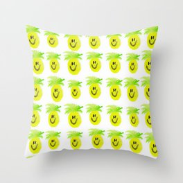 Happy Pineapple Attack Throw Pillow