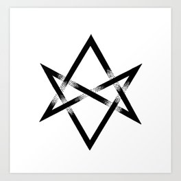 Unicursal Hexagram Art Print