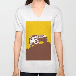 car jeep Unisex V-Neck