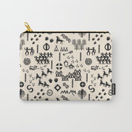 Peoples Story - Black and Creme Carry-All Pouch