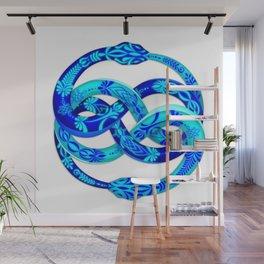 Blue Ouroboros Wall Mural