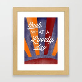 Fitz's Day Of Loveliness Framed Art Print