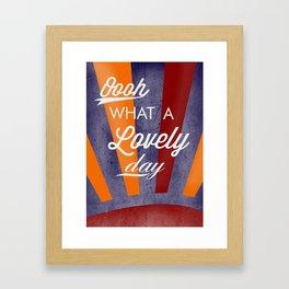 Fitz's Day Of Loveliness Framed Art Print