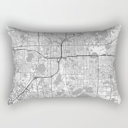 Orlando Map Line Rectangular Pillow