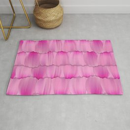 Gentle Pink Purple Flower Petal Pattern Rug