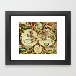 Ancient world map 1689 wall tapestry by yesteryears society6 ancient world map 1689 framed art print gumiabroncs Image collections