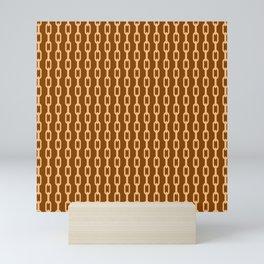 Chainlink No. 1 -- Orange Mini Art Print