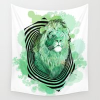 leo Wall Tapestries featuring Leo by NASBarte