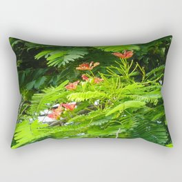 Trees and Blooms 2  Rectangular Pillow