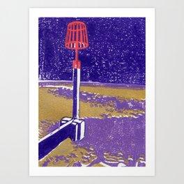 Seaview Fire Beacon in Purple Art Print