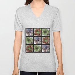 Succulents A plenty Unisex V-Neck