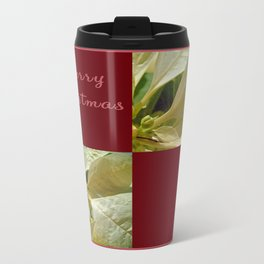 Pale Yellow Poinsettia 1 Merry Christmas Q10F1 Travel Mug