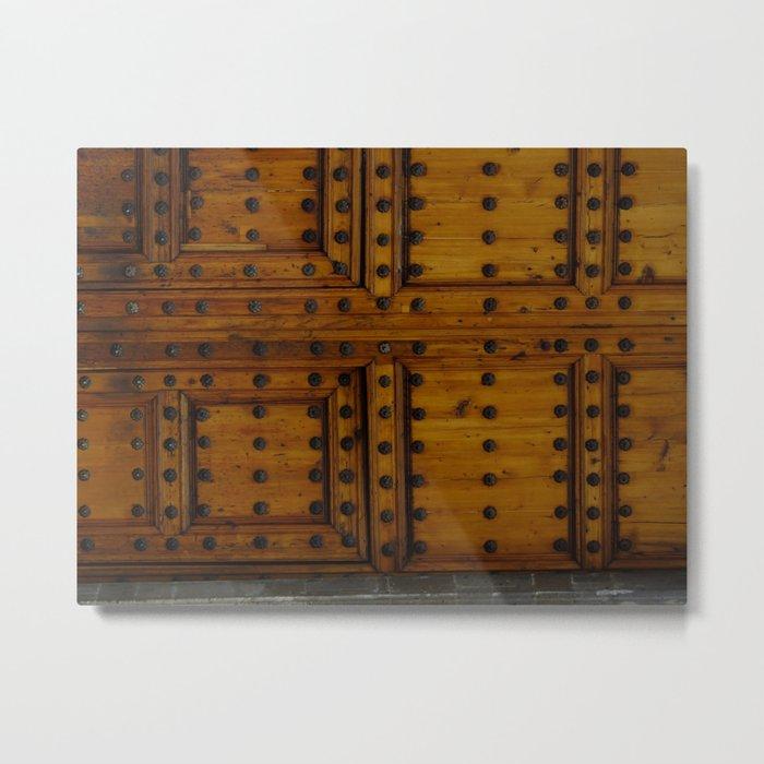 Wooden Antique Door Metal Print
