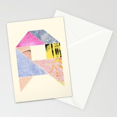 Collaged Tangram Alphabet - A Stationery Cards