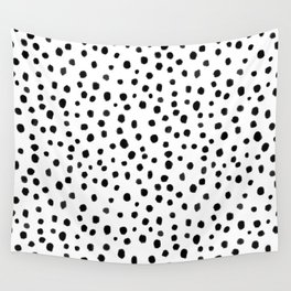 Modern Polka Dot Hand Painted Pattern Wall Tapestry