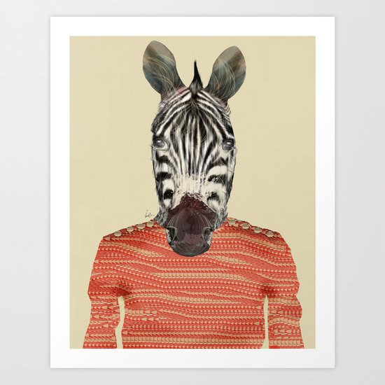 charlie zebra Art Print