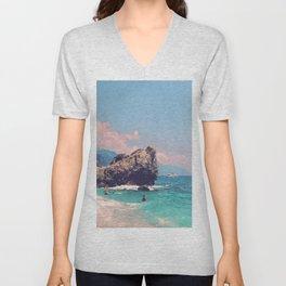 Like An Italian Riviera Postcard Unisex V-Neck