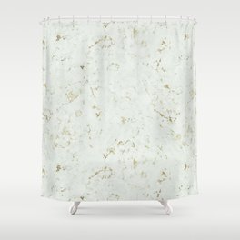 Green Natures Gold Marble Shower Curtain