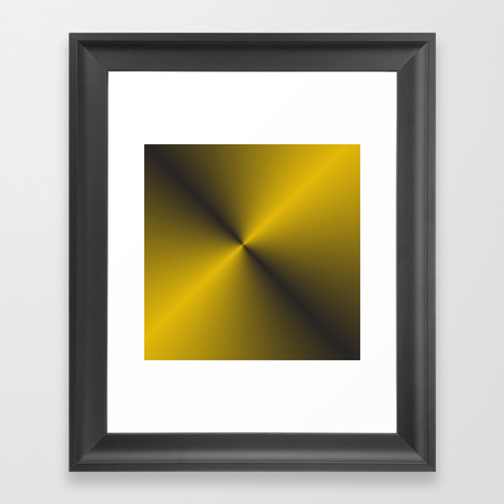 Vibrant Gold W/black Framed Art Print by 11penguingirl FRM8425054