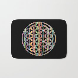 Flower of Life Colored | Kids Room | Delight Bath Mat