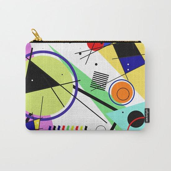 Retro Crazy - Abstract, random, crazy, geometric, colourful artwork Carry-All Pouch
