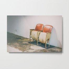 Old Cinema Chair Metal Print