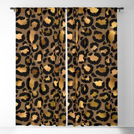 Leopard Metal Glamour Skin Blackout Curtain